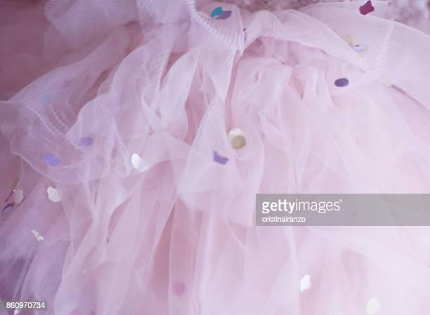 ballet skirt with confetti - チュール生地 ストックフォトと画像