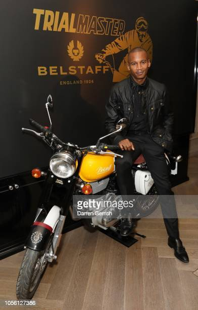 Ballet Soloist Eric Underwood celebrating the Iconic Belstaff Trialmaster at the New Bond Street with Ciroc Vodka on November 1 2018 in London England