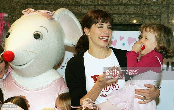 Ballet star Darcey Bussell and her daughter Phoebe join tutuclad mouse Angelina Ballerina for a rendition of the Angelina Red Nose Day Dance in aid...