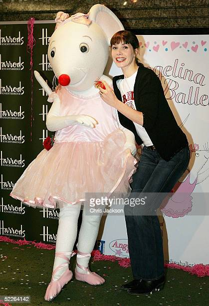 Ballet star Darcey Bussell joins tutuclad mouse Angelina Ballerina for a rendition of the Angelina Red Nose Day Dance in aid of Comic Relief at...