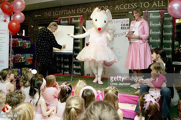 Ballet star Darcey Bussell with her daughter Phoebe and Angelina Ballerina creators Helen Craig and Katherine Holabird joins tutuclad mouse Angelina...