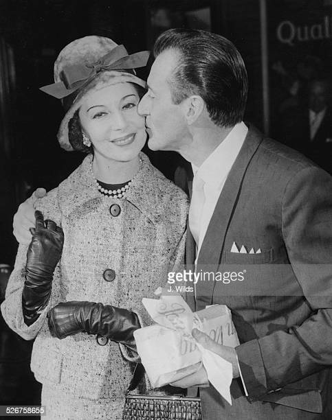 Ballet stars Alicia Markova and Anton Dolin, leaving London for South Africa on tour, London Airport, September 27th 1960.