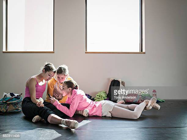 Ballet students backstage downtime