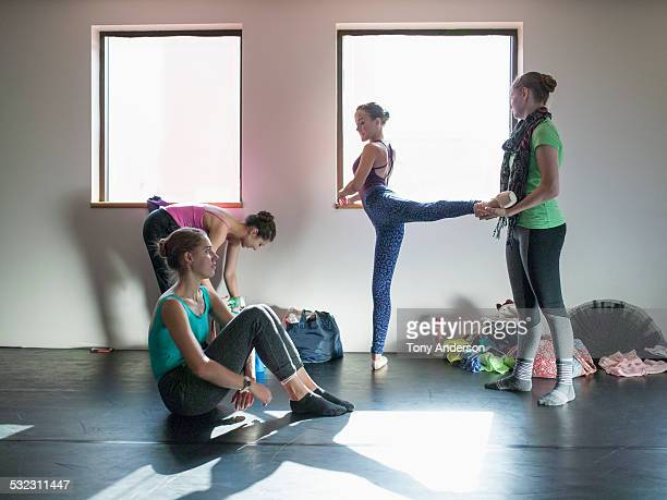 Ballet students between classes
