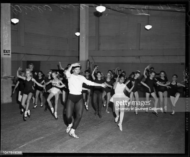 Ballet tryouts for Greek Theater 07 July 1955 Martha Martin 9 yearsNancy Robinson 9 yearsSally Mason 10 yearsJudy Bogart 10 yearsYvonne Gorosin 9...
