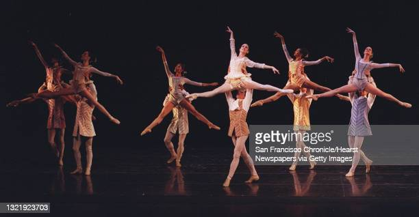 BALLET2b/C/19FEB97/DD/MACOR Principle dancers Tina LeBlanc and Roman Rykin dance the First Movement of the world premiere of Helgi Tomasson's...