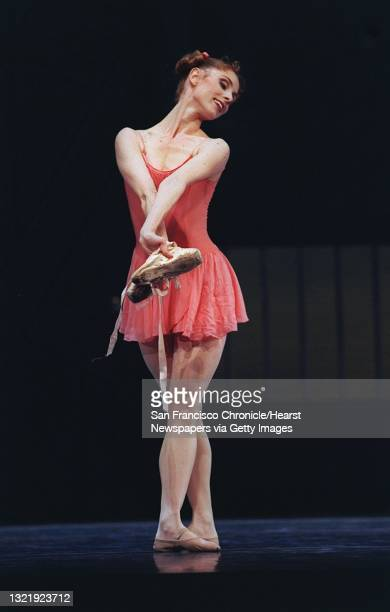 """BALLET2c/C/19FEB97/DD/MACOR Julia Adam as the pupil in Flemming Flindt's """"The Lesson"""" performed at The Center for the Arts Yerba Buena Gardens...."""