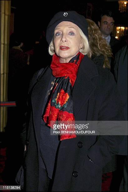 Ballet-dancer Jin Xing premiere at Casino de Paris in Paris, France on January 13, 2004 - Micheline Presle.