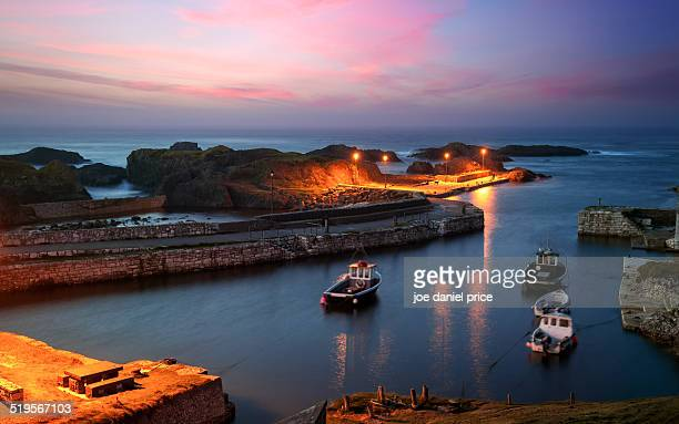 ballintoy harbour, county antrim, northern ireland - county antrim stock pictures, royalty-free photos & images