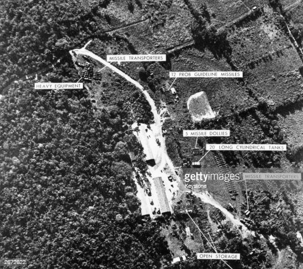 Ballistic missile base in Cuba, the evidence with which President Kennedy ordered a naval blockade of Cuba in the Cuban Missile Crisis.