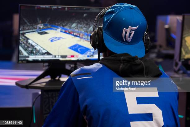 BallLikeSeem of Mavs Gaming plays against Raptors Uprising Gaming Club on May 12 2018 at the NBA 2K League Studio Powered by Intel in Long Island...