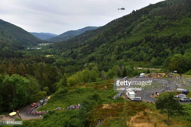 Ballon d'Alsace / Landscape / Peloton / Mountains / Fans / Public / during the 106th Tour de France 2019, Stage 6 a 160,5km stage from Mulhouse to La...