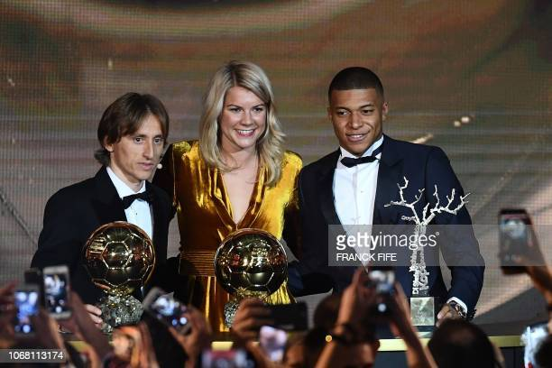 2018 Ballon d'Or awarded for best player of the year Men's Ballon d'Or Real Madrid's Croatian midfielder Luka Modric Women's Ballon d'Or Olympique...