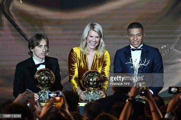 2018 Ballon d'Or awarded for best players of the year Men's Ballon d'Or Real Madrid's Croatian midfielder Luka Modric Women's Ballon d'Or Olympique...