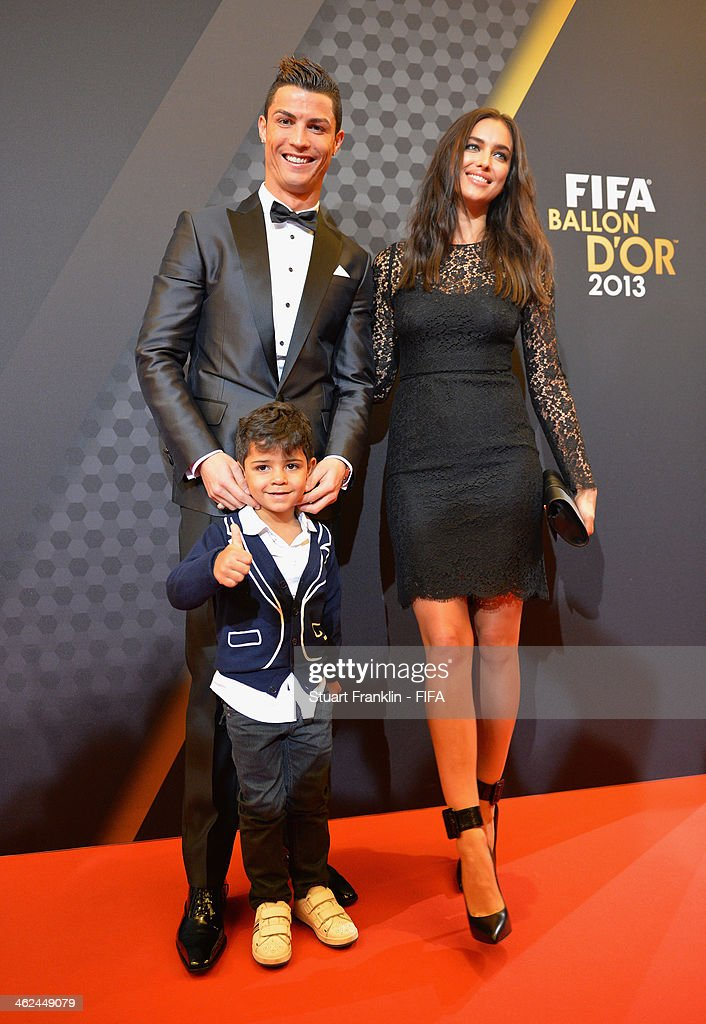Ballon d'Or nominee Cristiano Ronaldo of Portugal and Real Madrid and Irina Shayk arrive during the FIFA Ballon d'Or Gala 2013 at the Kongresshaus on January 13, 2014 in Zurich, Switzerland.