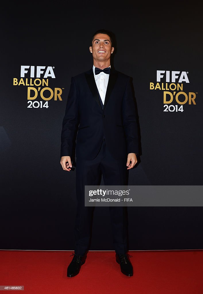 Ballon d'Or nominee Cristiano Ronaldo of Portugal and Real Madrid arrives for the FIFA Ballon d'Or Gala 2014 at the Kongresshaus on January 12, 2015 in Zurich, Switzerland.