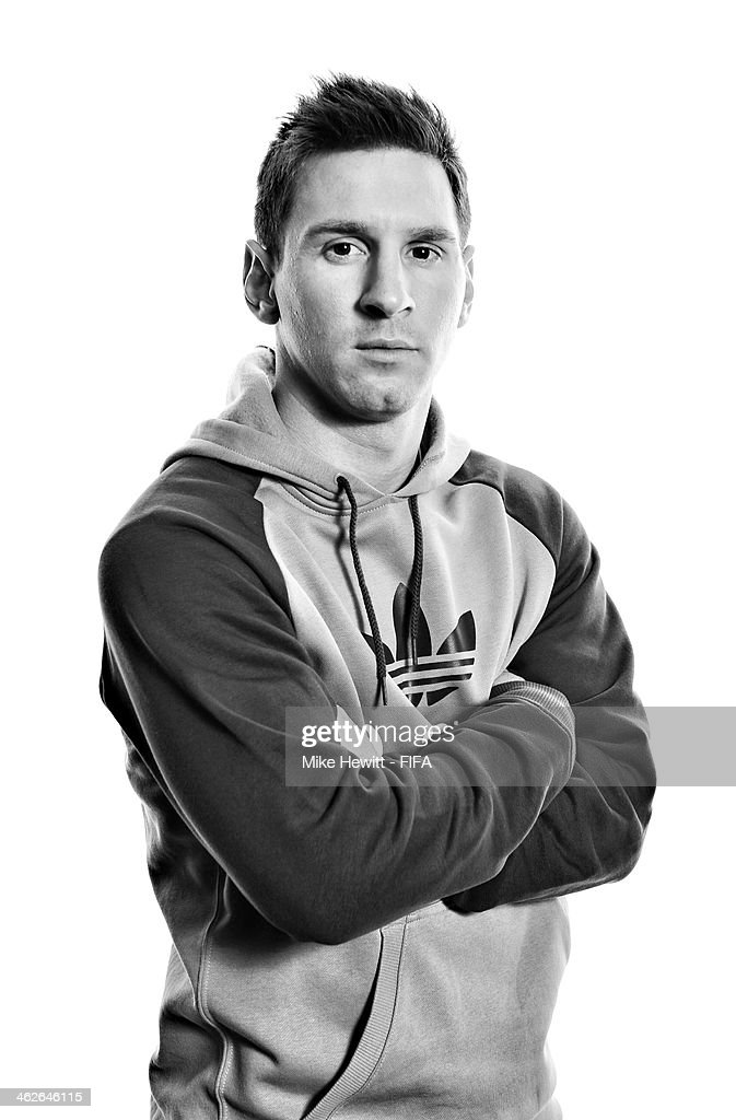 Ballon d'Or nominee Lionel Messi of Argentina and Barcelona poses for a portrait prior to the FIFA Ballon d'Or Gala 2013 at the Park Hyatt hotel on January 13, 2014 in Zurich, Switzerland.