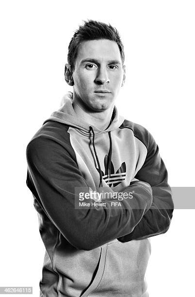 FIFA Ballon d'Or nominee Lionel Messi of Argentina and Barcelona poses for a portrait prior to the FIFA Ballon d'Or Gala 2013 at the Park Hyatt hotel...