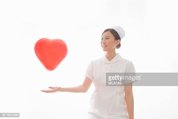 Balloon and Japanese nurse