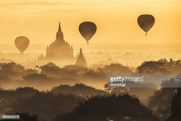 Balloon and Pagoda at Bagan