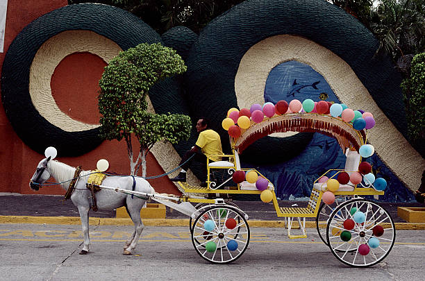 Balloon Covered Carriage at CiCi Water Park