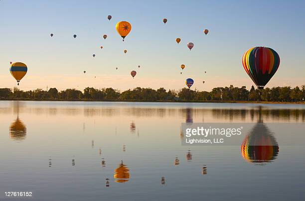 balloon festival - colorado springs stock pictures, royalty-free photos & images