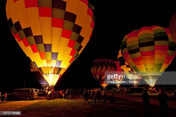 balloon glow - midland michigan - midland michigan stock pictures, royalty-free photos & images