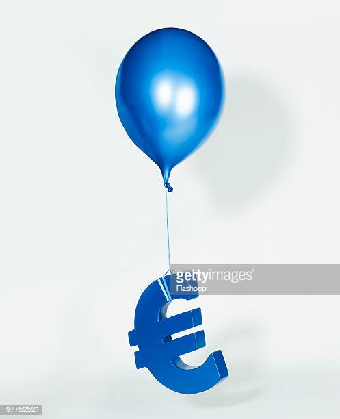 Balloon lifting Euro sign