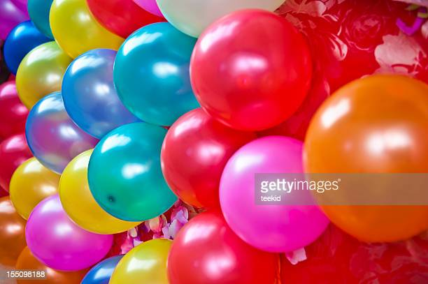 balloon - birthday balloons stock photos and pictures