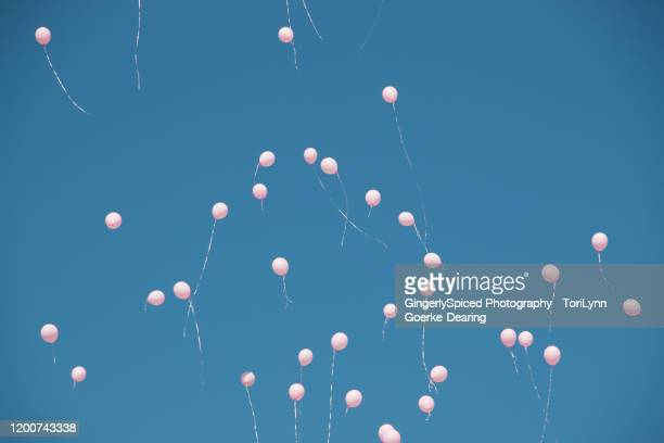 balloon release for cancer - releasing stock pictures, royalty-free photos & images