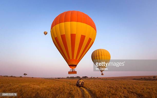 balloon safari - hot air balloon stock pictures, royalty-free photos & images