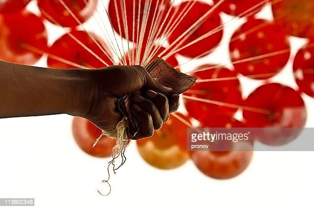 Balloon Salesman in language day fair