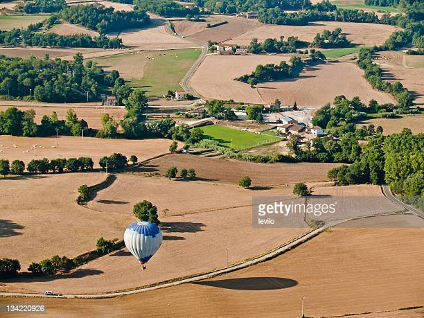 balloon trip - catalonia stock pictures, royalty-free photos & images