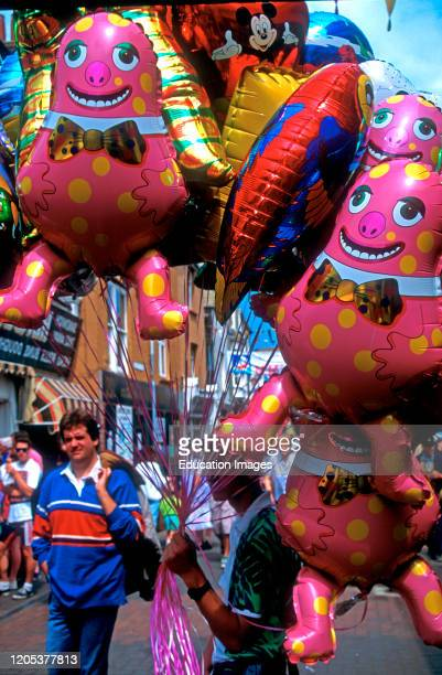 Balloon vendor Cowes Isle of Wight England