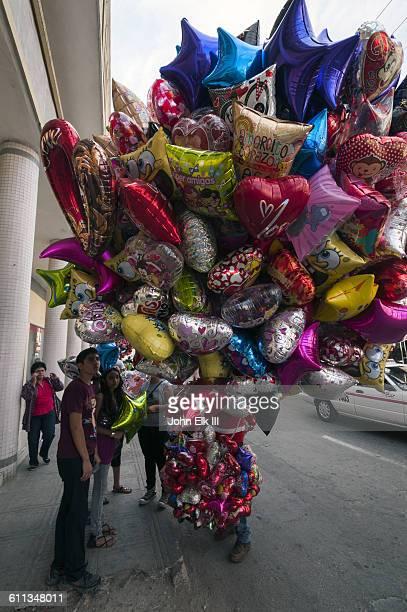 Balloon vendor in Merida, Mexico