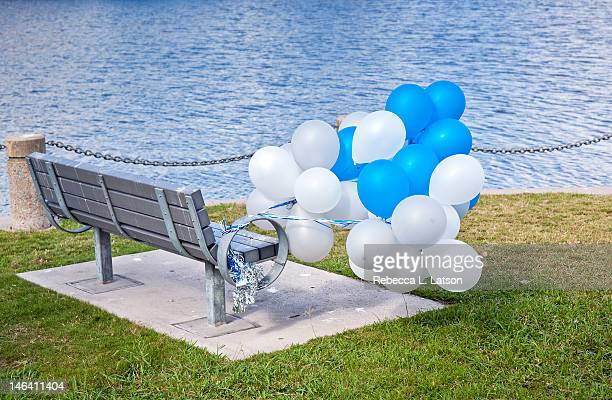 Balloons and bench