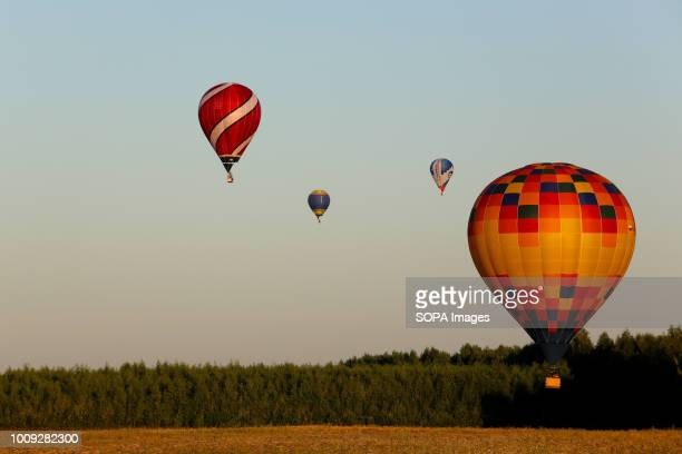 Balloons are seen flying The Aeronautics championship takes place in the Nizhny Novgorod region 14 teams from Russia and Germany participate in the...