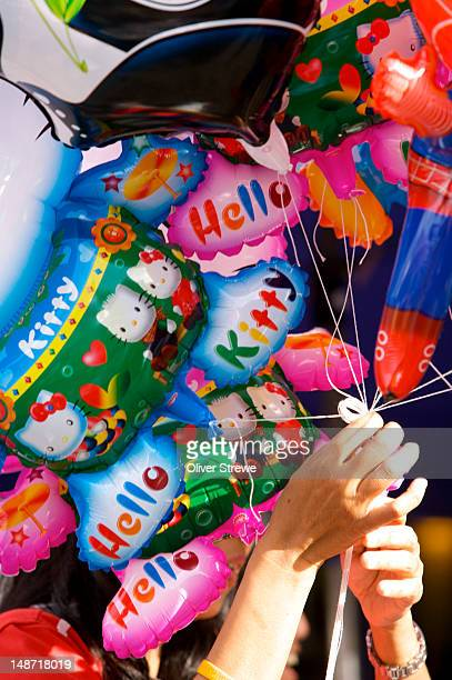 Balloons at Sunday walking street market.