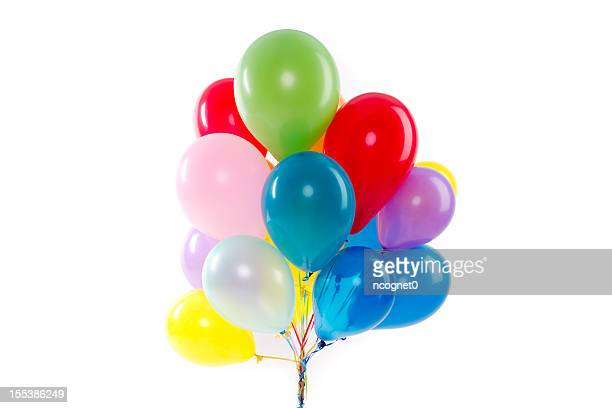 balloons for a party - bunch stock pictures, royalty-free photos & images