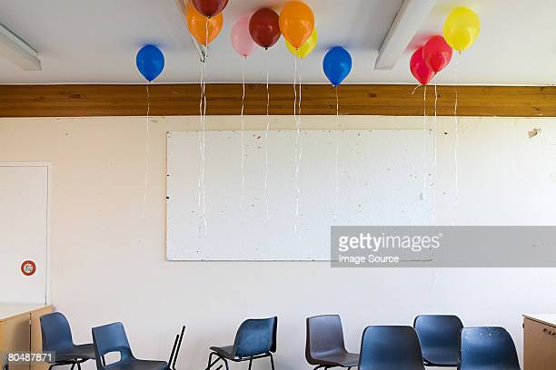 Balloons in classroom