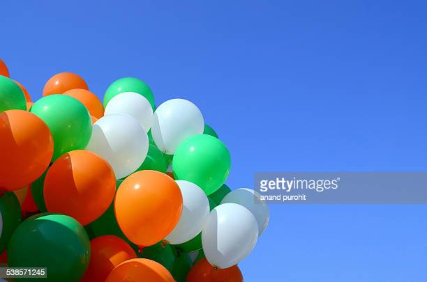 Balloons in clear blue sky, India