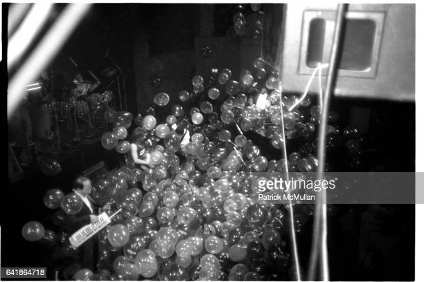 Balloons on stage at the Grammy Awards pre party at the Palladium. March 1, 1988.