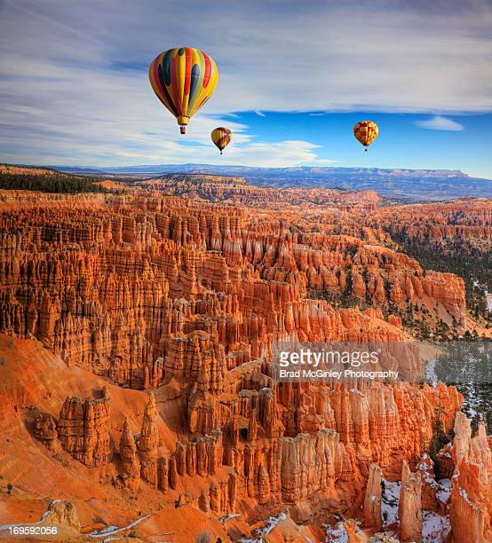 balloons over bryce canyon - bryce canyon stock pictures, royalty-free photos & images