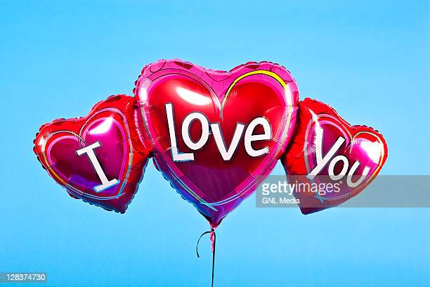 balloons - i love you stock pictures, royalty-free photos & images