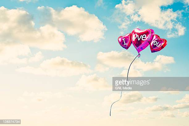 balloons - love you stock photos and pictures