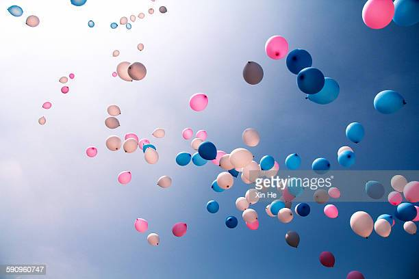 balloons - bright colour stock pictures, royalty-free photos & images