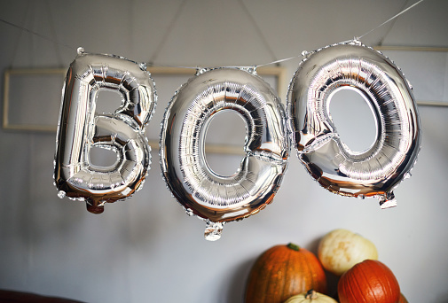 Balloons that spell boo - gettyimageskorea