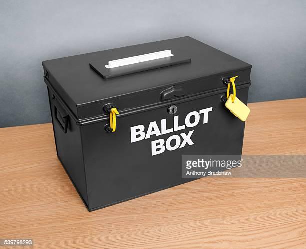 ballot box awaits an election - ballot box stock pictures, royalty-free photos & images