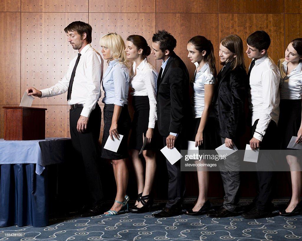 Ballot Box Vote : Stock Photo
