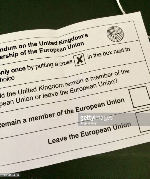 ballot paper for the referendum - conservative party uk stock pictures, royalty-free photos & images